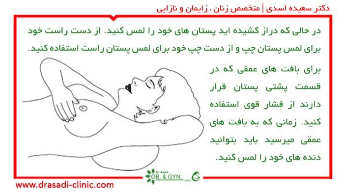 خود آزمایی پستان; تشخیص سرطان سینه | دکتر سعیده اسدی٬ متخصص زنان در شرق تهران