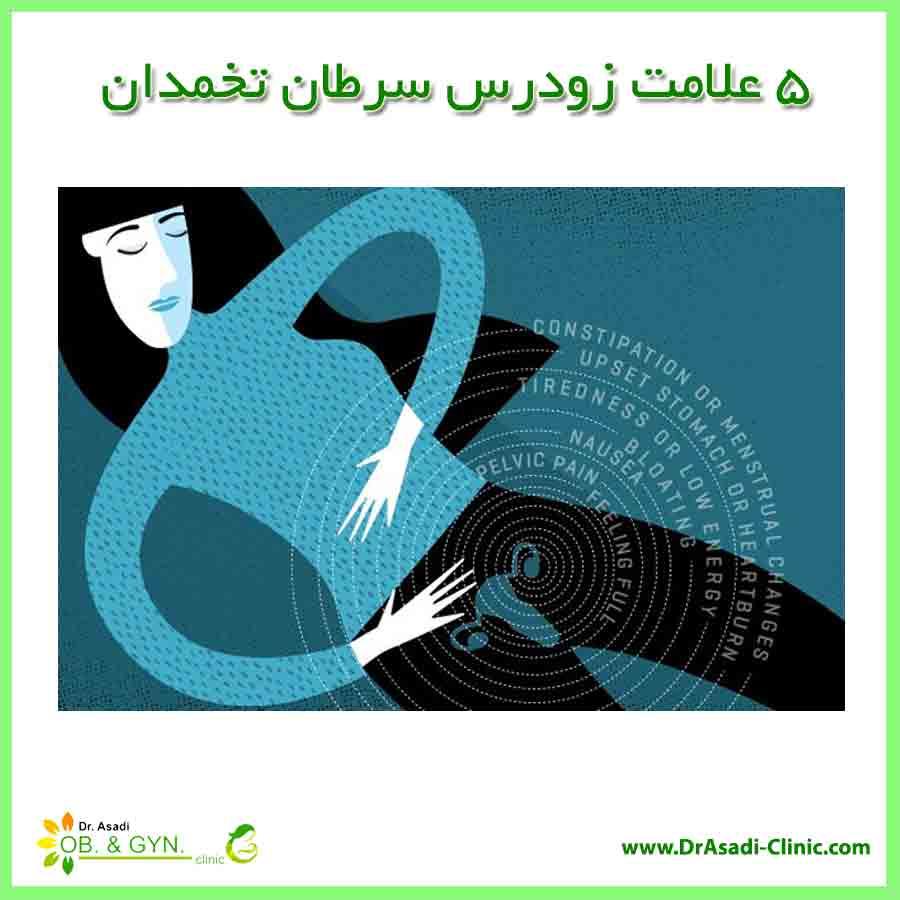 ۵ علامت زودرس سرطان تخمدان - خانم دکتر سعیده اسدی