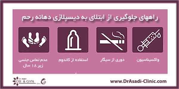 راههای جلوگیری از دیسپلازی دهانه رحم چیست-دکتر سعیده اسدی٬ متخصص زنان در شرق تهران