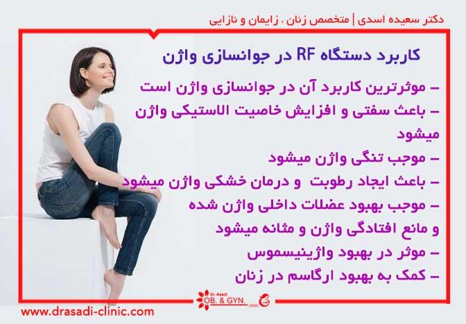 کاربرد دستگاه RF در جوانسازی واژن | دکتر سعیده اسدی ٬ متخصص زنان در شرق تهران